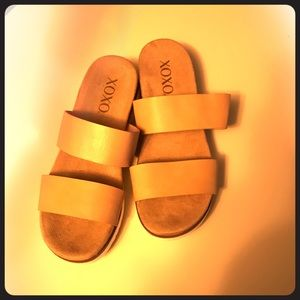 NBW tan slip on shoes